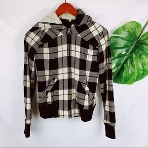 Nordstrom's Rubbish Brand Bomber Wool Hood Jacket